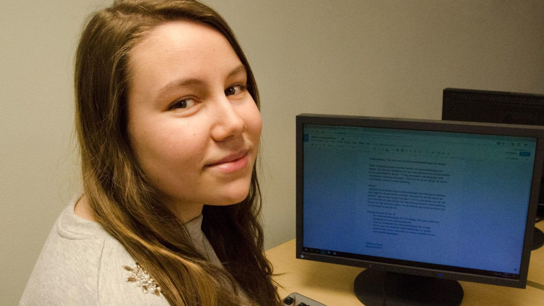 Studiemotivation är viktig för Rebecca