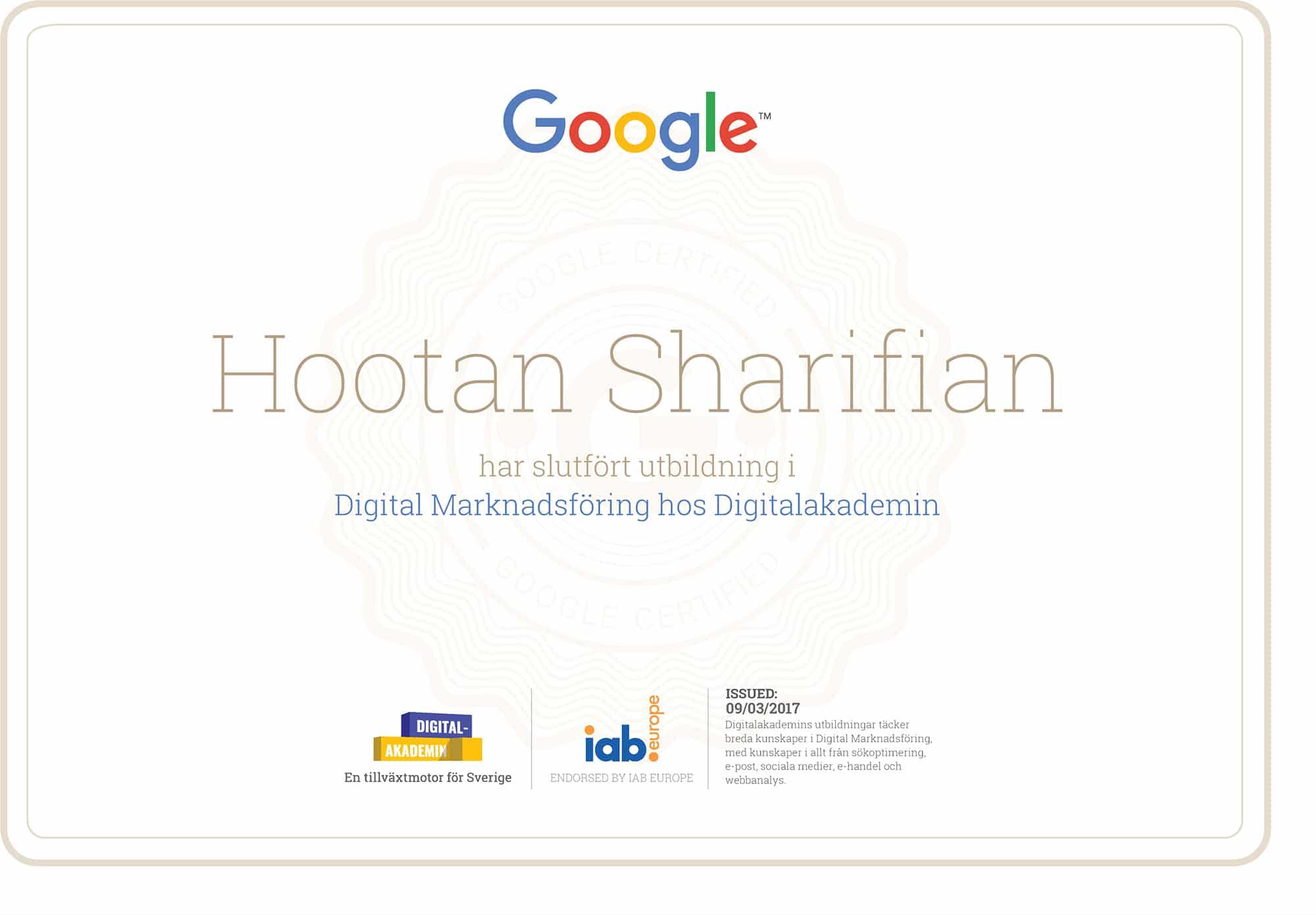 Dataring - Digitalakademin Diplom från Google